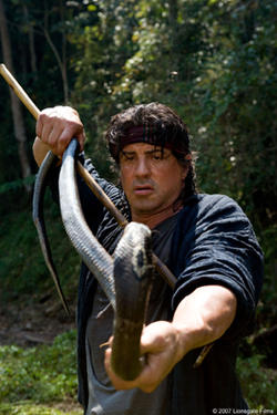Sylvester Stallone in &quot;Rambo.&quot;